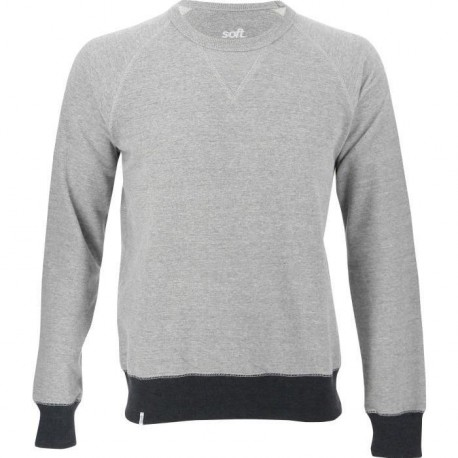SOFTWR Sweat Uni - Homme - Col Rond - Gris Chine