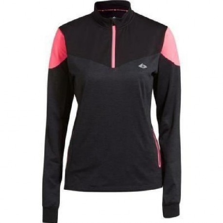ATHLI-TECH Maillot Bettina - Zip - Chaud - Noir