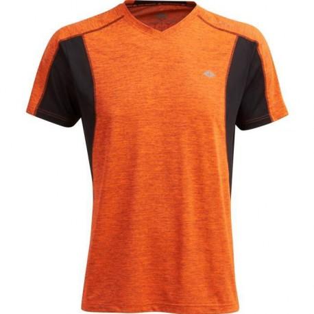 ATHLI-TECH Maillot Running Christophe - Manches Courtes - Orange Chine
