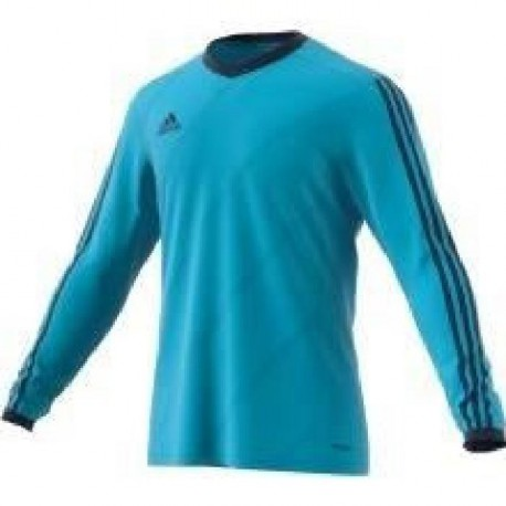 ADIDAS TABE 14 LS JSY T-shirt manches longues junior - Bleu turquoise
