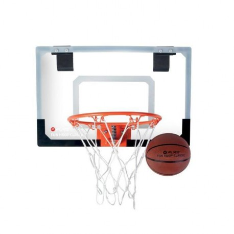 PURE2IMPROVE Panier de Basket-ball Fun Hoop Classic - Noir et blanc