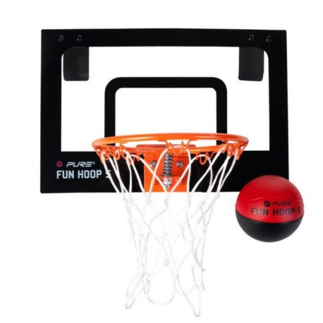 PURE2IMPROVE Panier de Basket-ball Fun Hoop S - Noir