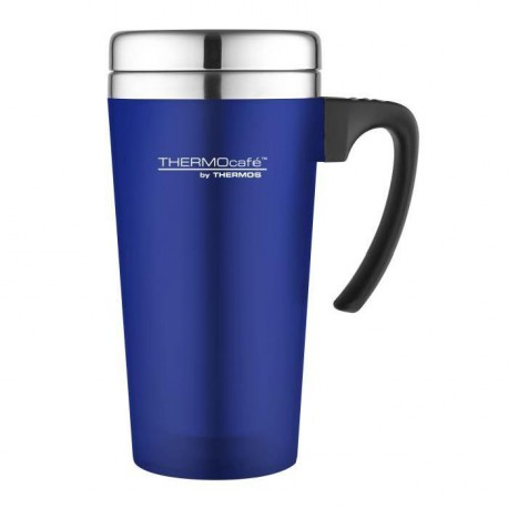 THERMOS Soft touch travel mug isotherme - 420ml - Bleu