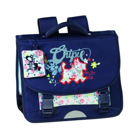 CHIPIE Cartable 2 compartiments - Primaire - Fille - Bleu marine