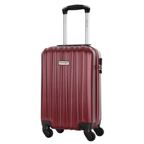 TRAVEL ONE Valise Cabine Low Cost Rigide ABS 4 Roues 44,5cm GUAZAPA Bordeaux