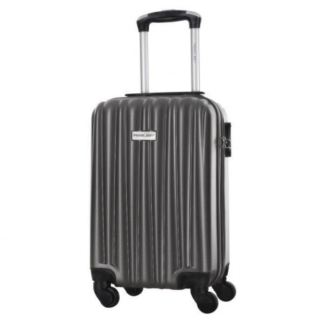 TRAVEL ONE Valise Cabine Low Cost Rigide ABS 4 Roues 44,5cm GUAZAPA Gris