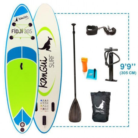 KANGUI Stand Up Paddle FIDJI 305cm Pack complet SUP FIDJI 305cm