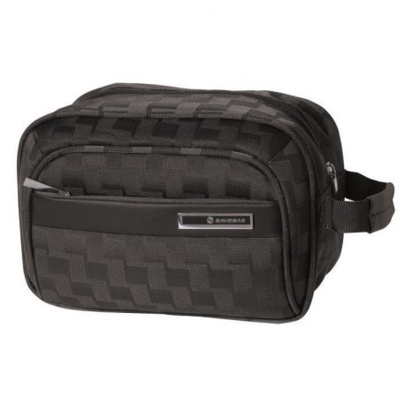 SAVEBAG Trousse de toilette SQUARE jacquard - Noir