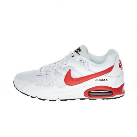 NIKE Baskets Air Max Command Blanc et rouge Homme