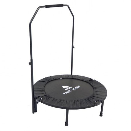 FAST JUMP Mini trampoline pliable Door-Bar - 92cm - Noir