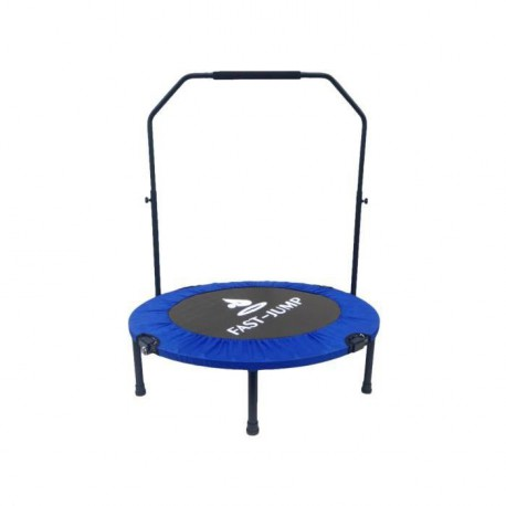 FAST JUMP Mini trampoline pliable Door-Bar - 92cm - Bleu