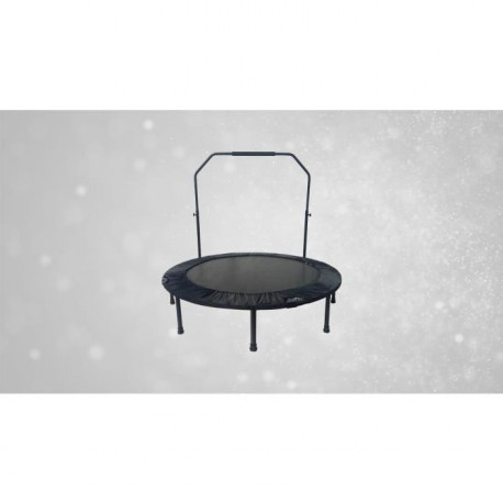 FAST JUMP Mini trampoline pliable Door-Bar - 122cm - Noir