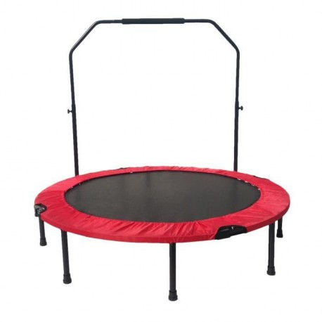 FAST JUMP Mini trampoline pliable Door-Bar - 122cm - Rouge