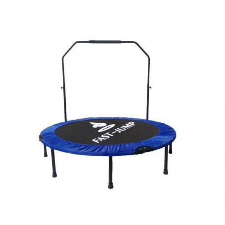 FAST JUMP Mini trampoline pliable Door-Bar - 122cm - Bleu