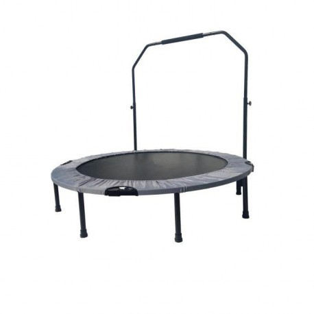 FAST JUMP Mini trampoline pliable Door-Bar - 122cm - Gris