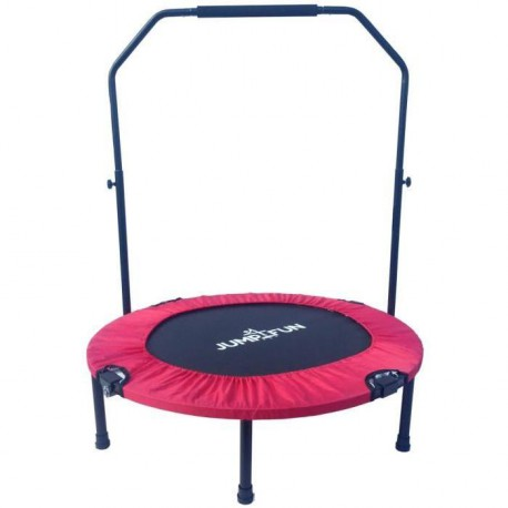 JUMP4FUN Mini trampoline pliable Door-Bar - 92cm - Rouge