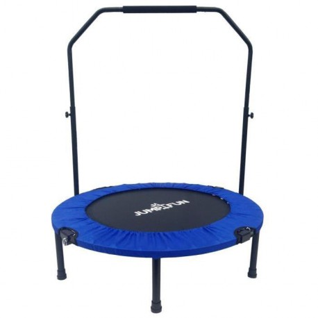 Mini Trampoline Fitness Jump4fun Double-Bar Pliable 92cm bleu
