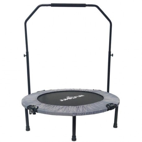Mini Trampoline Fitness Jump4fun Double-Bar Pliable 92cm gris
