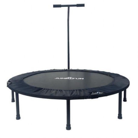 JUMP4FUN Mini trampoline pliable T-Bar - 122cm - Noir