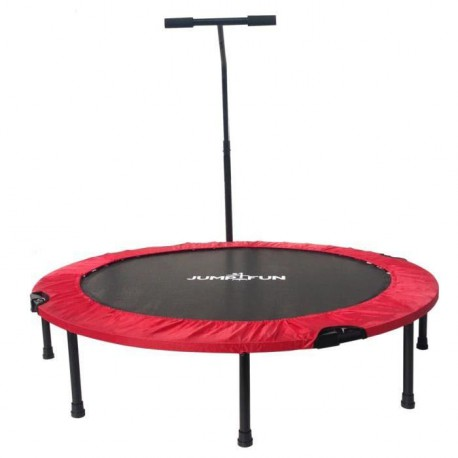 Mini Trampoline Fitness Jump4fun T-Bar Pliable 122cm Rouge