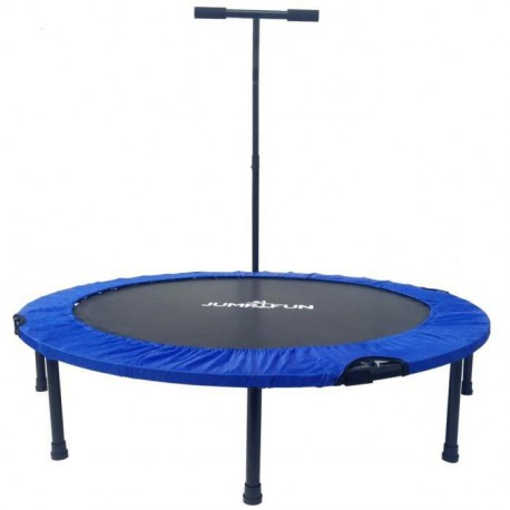 JUMP4FUN Mini trampoline pliable T-Bar - 122cm - Bleu