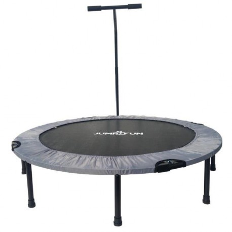 Mini Trampoline Fitness Jump4fun T-Bar Pliable 122cm Gris