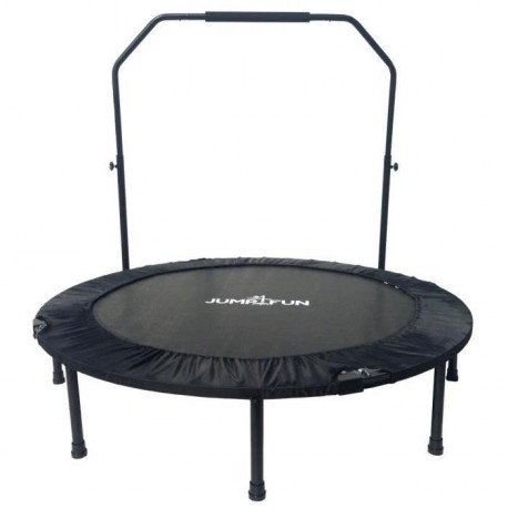 Mini Trampoline Fitness Jump4fun Double-Bar Pliable 122cm noir