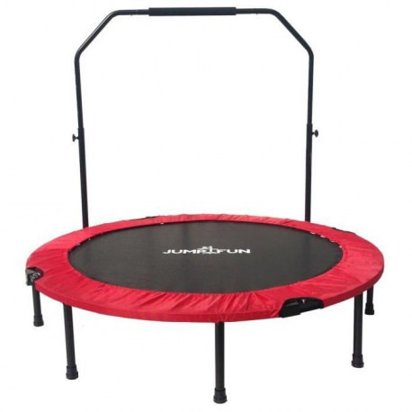 Mini Trampoline Fitness Jump4fun Double-Bar Pliable 122cm rouge