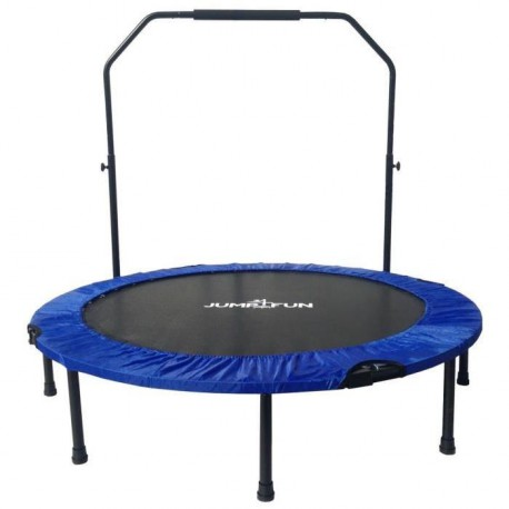 Mini Trampoline Fitness Jump4fun Double-Bar Pliable 122cm bleu