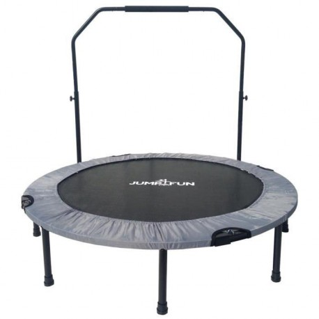 Mini Trampoline Fitness Jump4fun Double-Bar Pliable 122cm gris