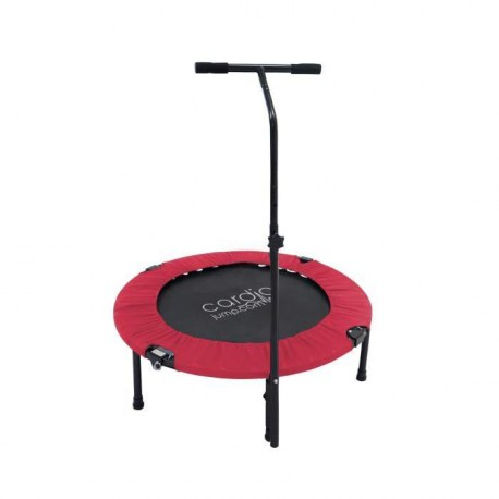 CARDIO JUMP Mini trampoline pliable T-Bar - 92cm - Rouge