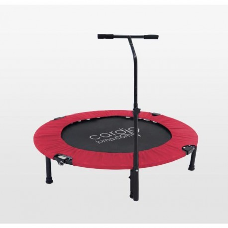 CARDIO JUMP Mini trampoline pliable T-Bar - 122cm - Rouge