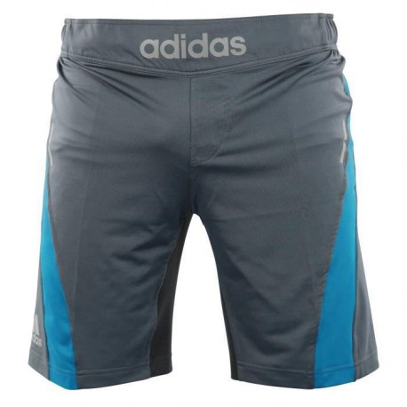 ADIDAS PERFORMANCE Short Training 2 Gris et Bleu