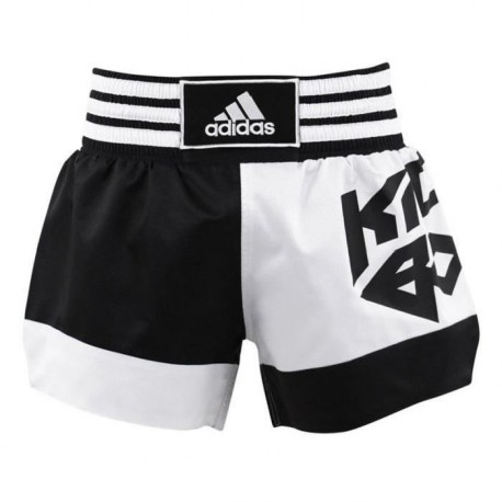 ADIDAS PERFORMANCE Short Kick Boxing Noir et Blanc