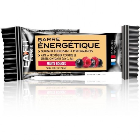 EAFIT Lot de 24 Barres Energétiques - Fruits Rouges - 30 g