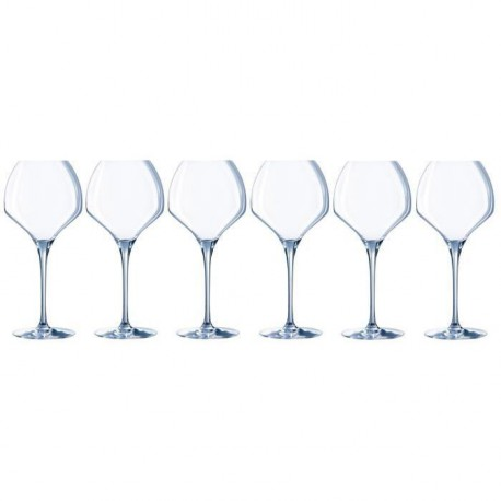 CHEF ET SOMMELIER Lot de 6 verres a vin OPEN'UP - 47 cl