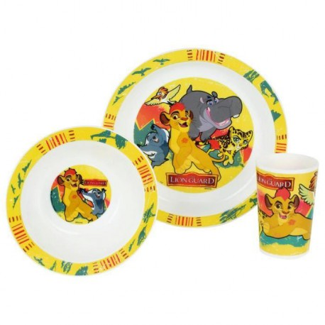 Disney Roi Lion  Ensemble lunch : Assiette - Verre - Bol