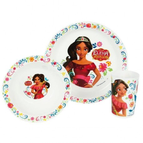 Elena D'Avalor Ensemble lunch : Assiette - Verre - Bol