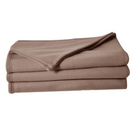 Couverture polaire Polfirst - 100% polyester 250g/m² - Taupe - 150 x 220 cm