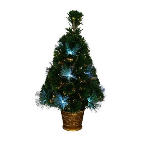 Sapin de Noël lumineux Los Angeles  24 LED 55 branches 60 cm blanc