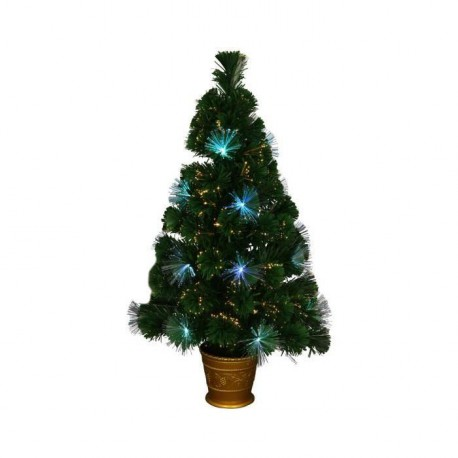 Sapin de Noël lumineux Los Angeles  33 LED 90 branches 80 cm blanc
