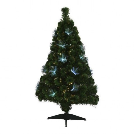 Sapin de Noël lumineux Los Angeles  45 LED 125 branches 120 cm blanc