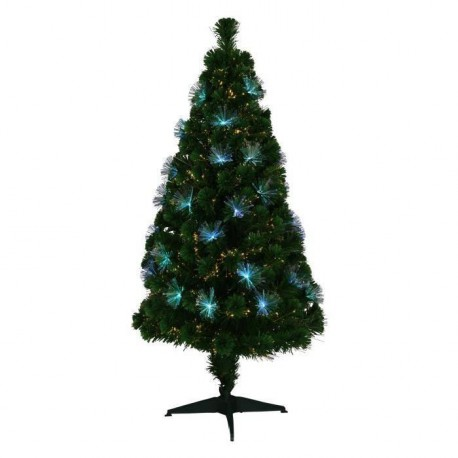 Sapin de Noël lumineux Los Angeles  61 LED 170 branches 150 cm blanc