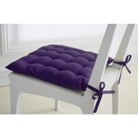 TODAY Assise matelassée 40x40cm 100% coton 16 points Purple