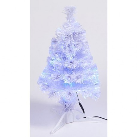 Sapin de table artificiel lumineux Bleu 60 cm