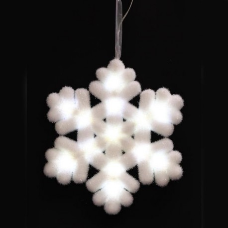 Suspension de Noël Flocon lumineuse 25x3 cm
