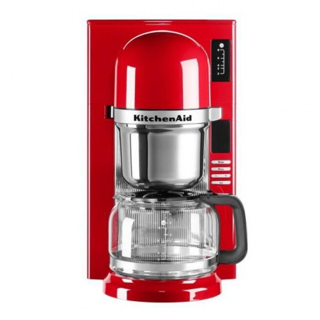 KITCHENAID 5KCM0802EER  Cafetiere filtre programmable - Rouge Empire