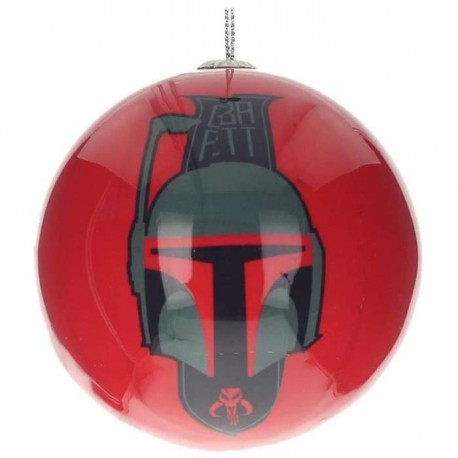 WTT STAR WARS Xmass Ball Boba Fett and Logo Rouge et Noir