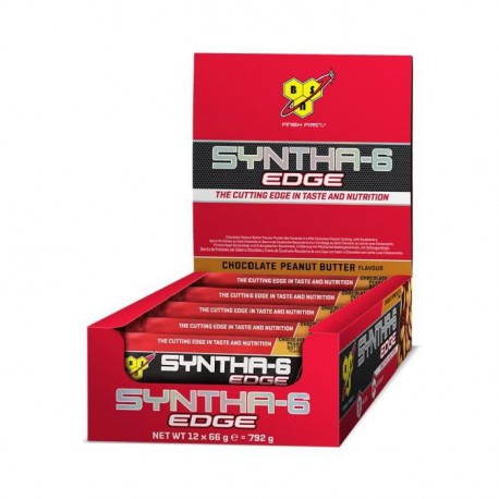 BSN 12 Barres Syntha 6 EDGE Chocolat Beurre de Cacahuete - 12 x 66g