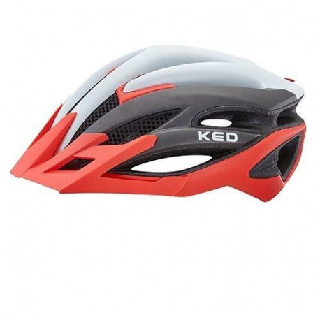KED Casque Wayron Pro Visiere - Rouge / Perle Mat